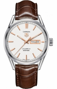 Tag Heuer Carrera Day Date Silver Dial Men's Watch WAR201D.FC6291