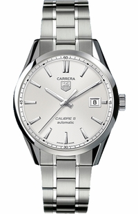 Tag Heuer Carrera Guilloche Silver Dial Men's Watch WAR211B.BA0787