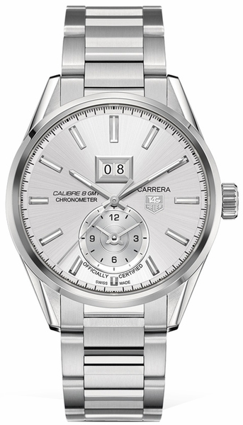 Tag Heuer Carrera Calibre 8 GMT Silver Dial Men's Watch WAR5011.BA0723