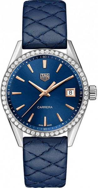 TAG Heuer Carrera Quartz Women's Diamond Watch WBK1317.FC8259