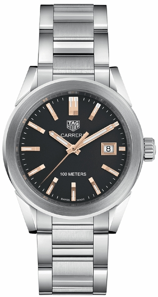 Tag Heuer Carrera Black Dial Stainless Ladies Watch WBG1311.BA0758