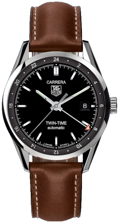 7f81d56554e4 WV2115.FC6203 TAG Heuer Carrera Twin Time Automatic Mens Watch
