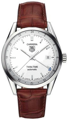 Tag Heuer Carrera Twin-Time 39mm Men's Watch WV2116.FC6181