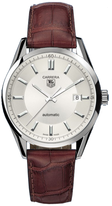 Tag Heuer Carrera Silver Dial 39mm Men's Watch WV211A.FC6181