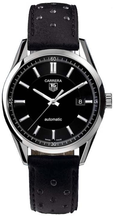 Tag Heuer Carrera Black Dial Steel Men's Watch WV211B.FC6182