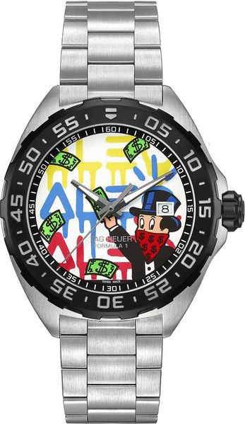 Tag Heuer Formula 1 Alec Monopoly Steel Men's Watch WAZ1119.BA0875