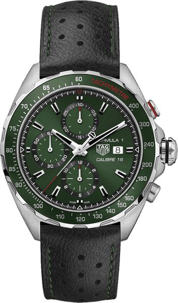 Tag Heuer Formula 1 Green Dial Men's Watch CAZ2016.FC6473