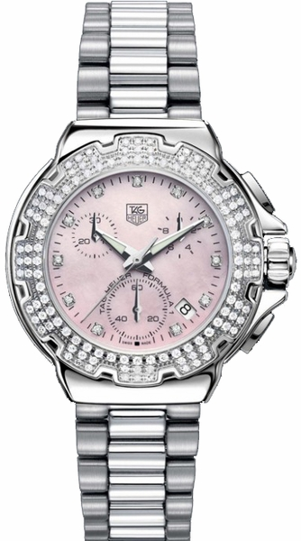 Tag Heuer Formula 1 Pink Dial Diamond Luxury Watch CAC1311.BA0852