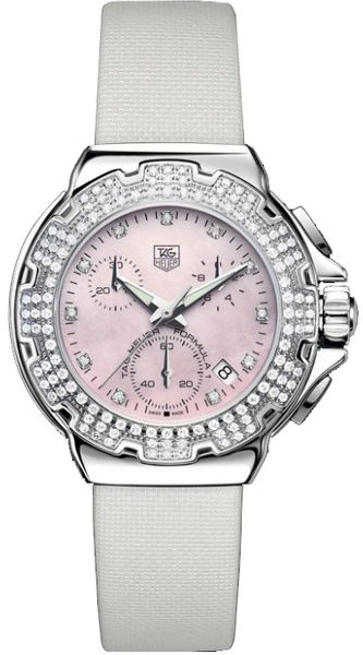 Tag Heuer Formula 1 Pink MOP Dial Diamond Women's Watch CAC1311.FC6219