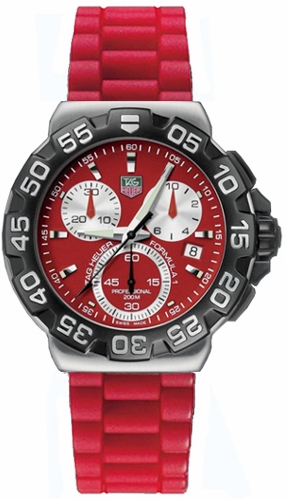 Tag Heuer Formula 1 Red Dial 41mm Chronograph Men's Watch CAH1112.BT0706