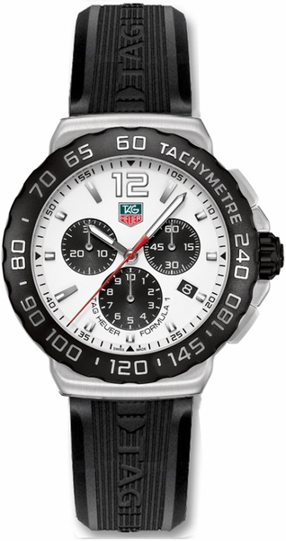 Tag Heuer Formula 1 42mm White Dial Men's Watch CAU1111.FT6024