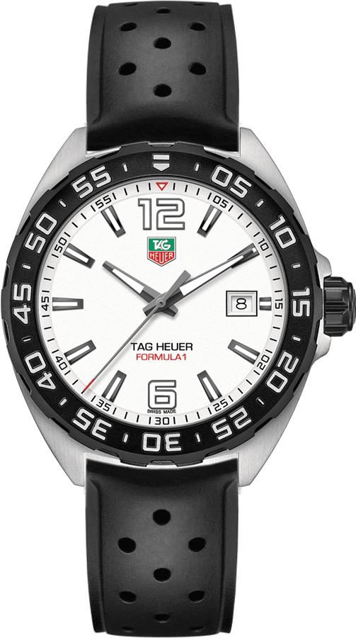 Tag Heuer Formula 1 White Dial 41mm Men S Watch Waz1111 Ft8023