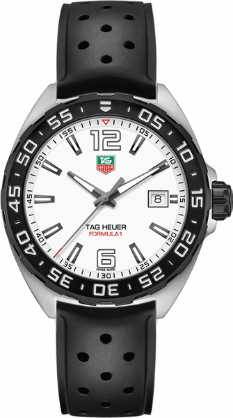 Tag Heuer Formula 1 White Dial 41mm Men's Watch WAZ1111.FT8023