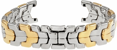 Tag Heuer Link 9mm Inlet 18k Yellow Gold with Stainless Steel OEM Watch Bracelet BB0957