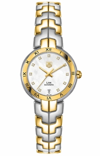 Tag Heuer Link Mother of Pearl Diamond Dial WAT2351.BB0957