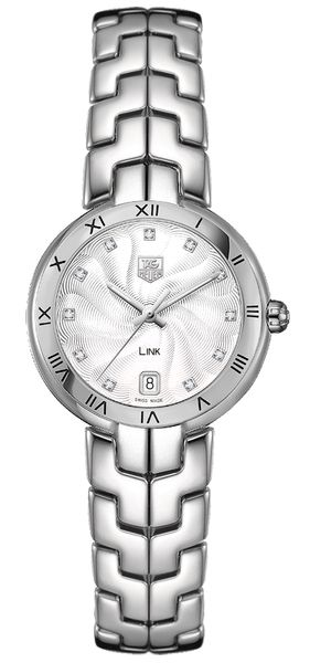 Tag Heuer Link Silver Diamond Dial Ladies Watch WAT1311.BA0956