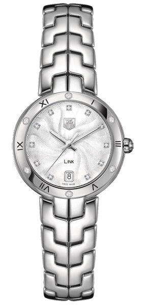 Tag Heuer Link Guilloche Silver Dial Ladies Watch WAT1312.BA0956