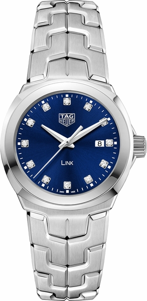 Tag Heuer Link 32mm Blue Dial Diamond Markers Women's Watch WBC1318.BA0600