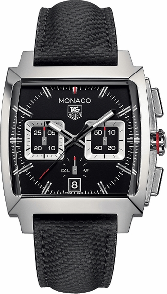 Tag Heuer Monaco 40.5mm Black Dial Men's Watch CAL2113.FC6536