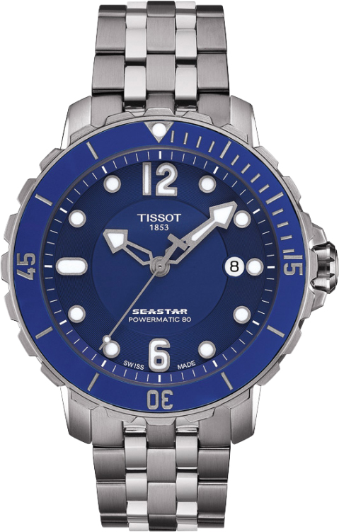 Seastar 1000 Powermatic 80 T066.407.11.047.02 Blue Dial Stainless ... 05a8405b5ba
