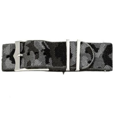 Tudor 21mm Black Camouflage Fabric Nato Strap 4345079