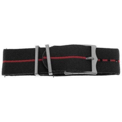 Tudor 22mm Inlet Black & Red Fabric OEM Nato Watch Strap 4239762A
