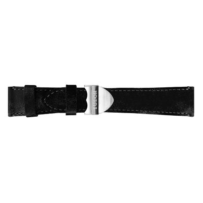 Tudor Aged Black Leather Strap T0002