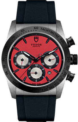 Tudor Fastrider Chrono Red Dial Men's Watch M42010N-0009
