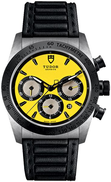 Tudor Fastrider Chrono Yellow Dial Men's Watch M42010N-0002
