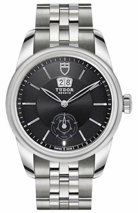 Tudor Glamour Double Date Black Dial Men's Watch M57000-0001