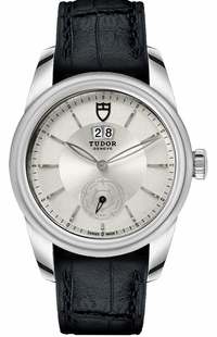 Tudor Glamour Double Date Silver Dial Men's Watch M57000-Silver