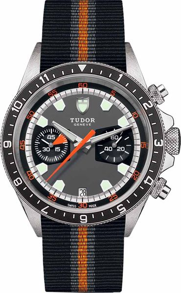 Tudor Heritage Chrono Grey Dial Men's Watch M70330N-0004