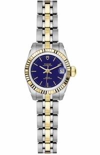 Tudor Princess Date Two Tone Blue Dial Women's Watch M92513-0022