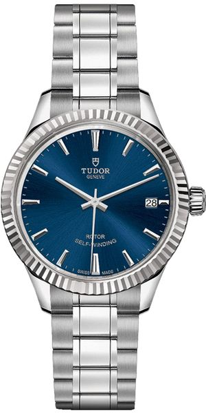Tudor Style 34mm Blue Dial Women's Watch M12310-0013