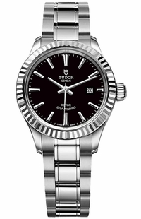 Tudor Style Black Dial Automatic Women's Watch M12110-0003