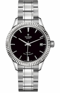 Tudor Style Black Dial Date Women's Watch M12310-0003