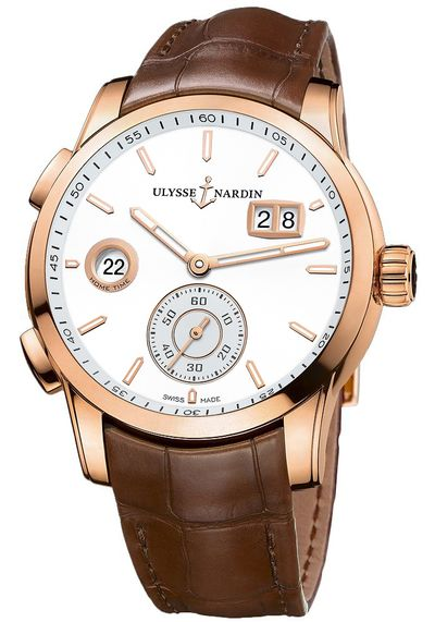 Ulysse Nardin Dual Time Manufacture Men's Luxury Watch 3346-126/90