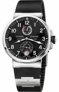 Ulysse Nardin Marine Chronometer Black Dial Men's Watch 1183-126-3/62