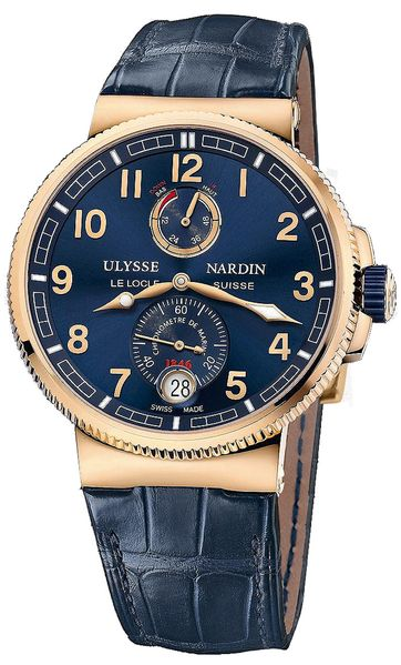 Ulysse Nardin Marine Chronometer Manufacture Blue Dial Men's Watch 1186-126/63