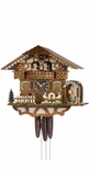 1 Day Musical Bavarian Chalet Cuckoo Clock with 2 Beer Drinkers In Biergarten By H�nes