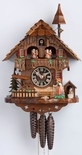 1 Day Musical Black Forest Chalet Cuckoo Clock with Bell Tower and Bell Ringer By H�nes