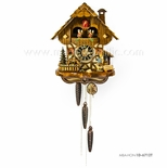 1 Day Musical Black Forest Chalet Cuckoo Clock with Clock Peddler By H�nes
