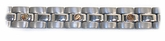 18K Gold Plated Stylish Men's Titanium Bracelet