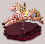 18th Century Replica of a highly Detailed Pink Carousel Horse