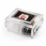 "3"" x 2"" Wallet Size Clear Photo Frame Music Box with New ""Pop-Out"" lens System"