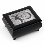 "3"" x 2"" Wallet Size  Matte Black  Photo Frame Music Box with New ""Pop-Out"" lens System"