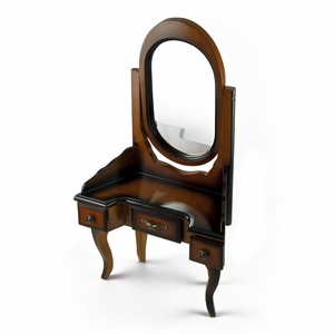 Miniature French-Provincial Style Vanity With Mirror