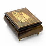 Abstract Romantic Couple Theme Inlaid Small Ercolano Music Box