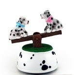 Adorable Dalmatians See-Saw Musical Figurine