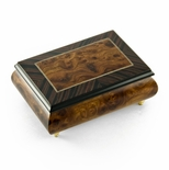 Alluring 22 Note Neutral Tone Modern Music Box with Rosewood Frame